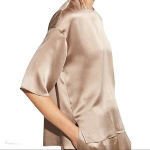 Vince silk Boxy Top Taupe